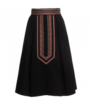 """Althea"" skirt in black by Lena Hoschek - Artisan Partisan - Autumn/winter collection AW20/21"