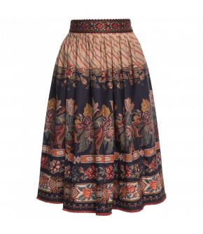 """Artefact"" skirt by Lena Hoschek - Artisan Partisan - Autumn/winter collection AW20/21"