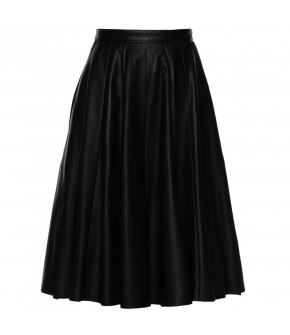Lena Hoschek Black Sabbath skirt in black napa - Season of the Witch - SS20 - FS20 - Lena Hoschek Black Sabbath Rock in Schwarzem Napaleder