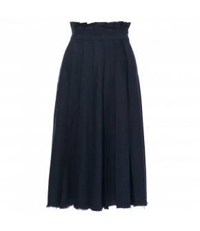 Bonvivant Skirt minuit in dark blue by Lena Hoschek - SS21 summer collection - Antoinette's Garden
