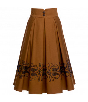 "Brown skirt ""Cappadocia masala"" by Lena Hoschek - Artisan Partisan - Autumn/winter collection AW20/21"