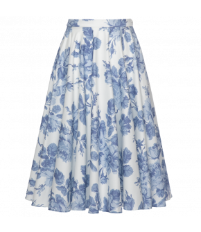 Lena Hoschek Catherine skirt blue rose - Season of the Witch - SS20 - FS20 - Lena Hoschek Catherine Rock Blau