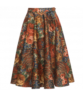 """Catherine skirt freedom rose"" by Lena Hoschek - Artisan Partisan - Autumn/winter collection AW20/21"