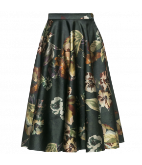 "Classic circle skirt ""Catherine"" with floral print by Lena Hoschek"