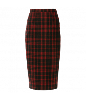 Elinor Skirt in red and black plaid by Lena Hoschek - AW21/22 autumn/winter collection - Biedermeier