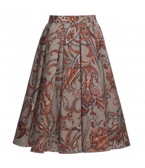 """Faye skirt indian"" in grey by Lena Hoschek - Artisan Partisan - Autumn/winter collection AW20/21"