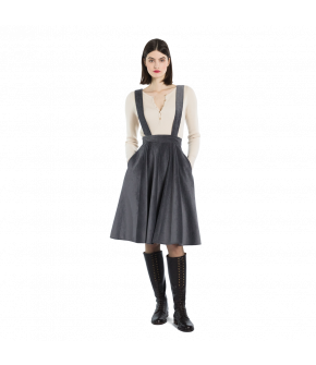 "Grey cord pinafore skirt by Lena Hoschek ""Filou Skirt grey"""