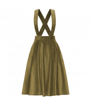 "Green pinafore skirt by Lena Hoschek ""Filou Skirt moss"""