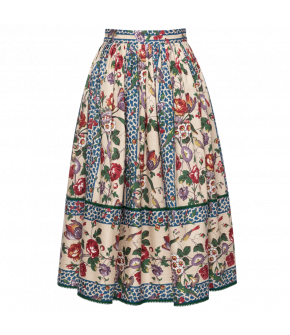 Flâneur Skirt with floral print by Lena Hoschek - SS21 summer collection - Antoinette's Garden