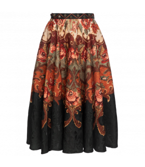 "Patterned swing skirt ""Flying Carpet"" from Lena Hoschek with decorated waistband - Autumn/winter collection AW20/21"