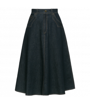 "Flared denim skirt by Lena Hoschek ""Hoe-Down"""