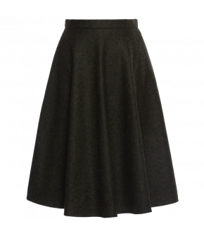 "Flared skirt in dark green ""Kingsman"" from Lena Hoschek - Artisan Partisan - Autumn/winter collection AW20/21"