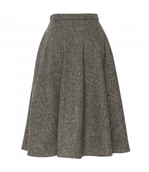 "Grey marled flared skirt by Lena Hoschek ""Kingsman Skirt salt & pepper"""