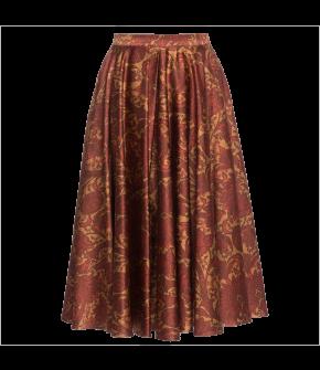 """Knee-length circle skirt """"Maisir"""" from Lena Hoschek with zipper - Artisan Partisan - Autumn/winter collection AW20/21"""