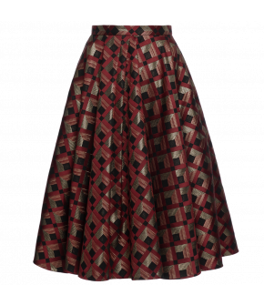 "Tailored ""Maisir"" skirt from Lena Hoschek with thin waistband - Artisan Partisan - Autumn/winter collection AW20/21"