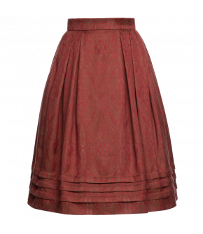 "Tailored skirt with waistband and pleats ""Orient"" from Lena Hoschek - Artisan Partisan - Autumn/winter collection AW20/21"