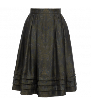 "Lined tailored skirt ""Orient"" from Lena Hoschek with tucks - Artisan Partisan - Autumn/winter collection AW20/21"