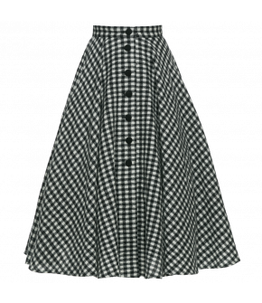 "Long gingham skirt with Button-through front by Lena Hoschek ""Oscar"""