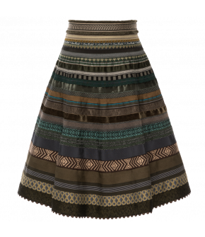 "Classic Lena Hoschek ribbon skirt in the colour ""Camouflage"""