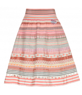 Ribbon Skirt flamingo by Lena Hoschek - Tutti Frutti Spring / Summer 2019