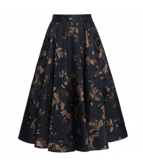 "Patterned skirt ""Zenith"" from Lena Hoschek with hidden side pockets and jacquard print - Artisan Partisan - Autumn/winter collection AW20/21"