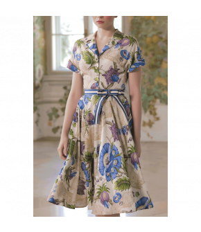 Suzanne Dress versailles bleu by Lena Hoschek - SS21 summer collection - Antoinette's Garden