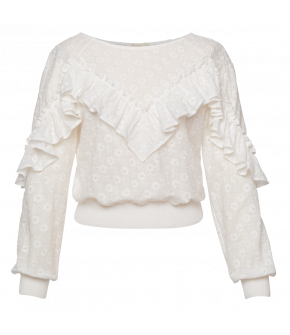 Amoureuse Sweater in white by Lena Hoschek - SS21 summer collection - Antoinette's Garden