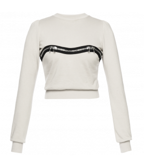 "Lena Hoschek ""Kink"" sweater in white - Season of the Witch - SS20 - FS20 - Lena Hoschek ""Kink"" Pullover in Weiß"
