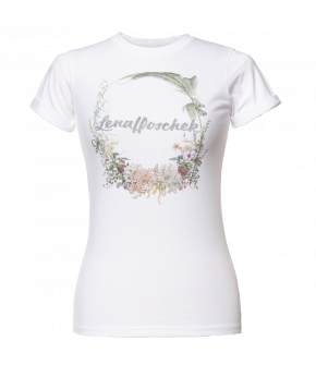 "Lena Hoschek t-shirt with vintage floral print for SS21 collection ""Antoinette's Garden"""