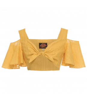 "Yellow tie-front crop top by Lena Hoschek ""Chiquita Top banana"""