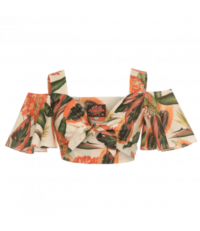 Chiquita Top papaya cream by Lena Hoschek - Tutti Frutti Spring / Summer 2019