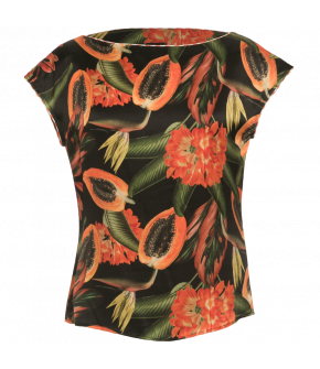 Summer Top papaya black by Lena Hoschek - Tutti Frutti Spring / Summer 2019