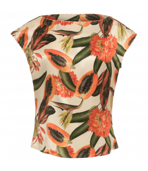Summer Top papaya cream by Lena Hoschek - Tutti Frutti Spring / Summer 2019