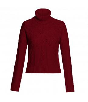 Lena Hoschek Turtleneck Erika in burgundy red - AW2021 - Autumn/Winter 2021 collection Artisan Partisan