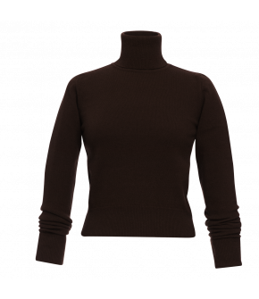 Lena Hoschek Turtleneck Lord in mocca brown from the AW2021 collection Artisan Partisan.
