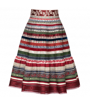 Classic Ribbon Skirt Erdbeerfeld - SS21 summer collection - Lena Hoschek Tradition