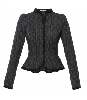 "Lena Hoschek Traditional jacket in dark grey, called ""Maxi"" - Lena Hoschek Tradition - Autumn Winter 2019/20"