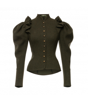 Theresia Jacket Wienerwald in forest green by Lena Hoschek Tradition - AW21/22 autumn/winter collection