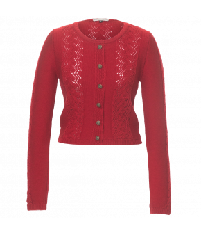 "Lena Hoschek Tradition cardigan ""Aloisia"" in cherry red"