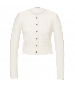 "Lena Hoschek Tradition cardigan ""Aloisia"" in white"