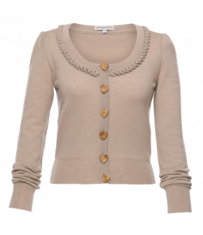 Herzerl Cardigan Lämmchen in beige - SS21 summer collection - Lena Hoschek Tradition