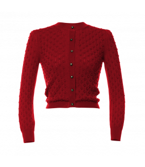 Lotti Cardigan Rotklee in red by Lena Hoschek Tradition - AW21/22 autumn/winter collection