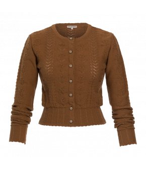 Rosi Cardigan nougat by Lena Hoschek Tradition for the autmn/winter collection 20/21.
