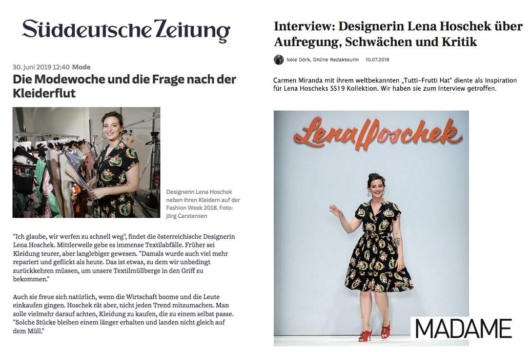 Lena Hoschek auf vogue.de
