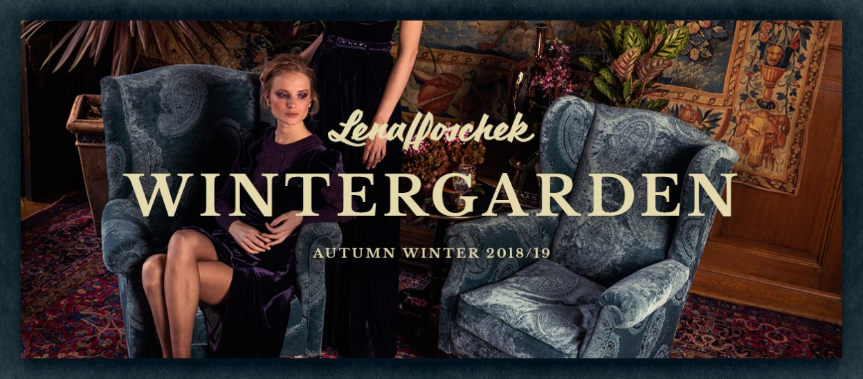 Lena Hoschek collection AW 18/19 Wintergarden