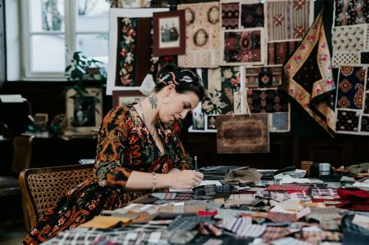 Lena Hoschek at her atelier