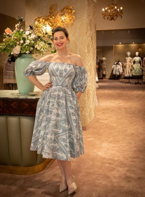 Lena Hoschek at her Vienna Flagship Store Seilergasse 16
