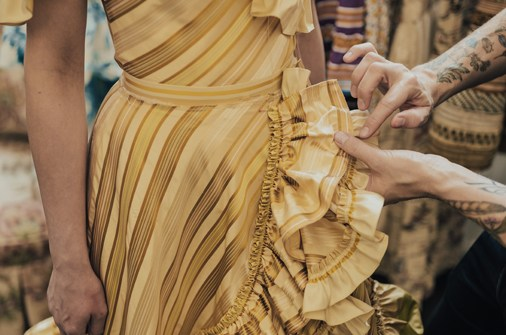 Lena Hoschek Atelier customization wedding dress details